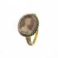 Ring med miniatyrporträtt av drottning Hedvig Eleonora av Sverige (1636-1715) cirka 1656 - Livrustkammaren - 97905.tif