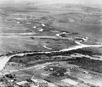 Tietê River - Confluence of the rivers Pinheiros and Tietê in 1929.