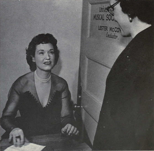 Risë Stevens - Stevens visiting the University of Michigan, 1952–1953