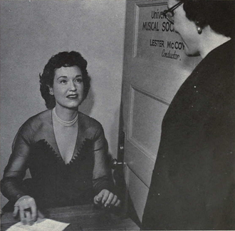 Risë Stevens - Stevens visiting the University of Michigan, 1952–1953