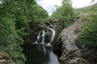 River Doe - River Doe near Ingleton, flowing over Beezley Falls