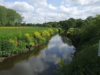 River Stour, Worcestershire - River Stour near Caunsall