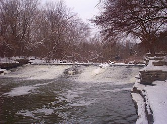 River Rouge (Michigan) - Man-made falls on the River Rouge at Henry Ford's Fair Lane estate.