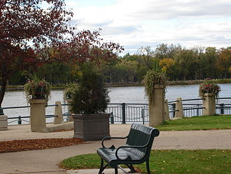 La Crosse, Wisconsin - View of the Mississippi River from Riverside Park