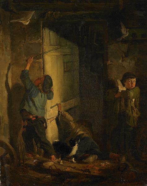 File:Robbing the Pigeon Roost - Frederick Arthur Bridgman.jpg