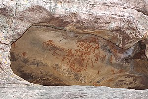 Bhimbetka rock shelters - Bhimbetka rock painting