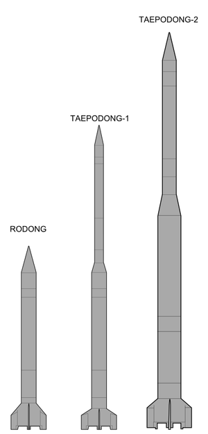 Taepodong-2 - Image: Rodong and Taepodong 1&2
