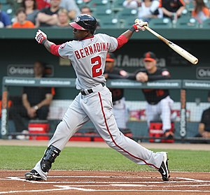 Roger Bernadina - Bernadina with the Washington Nationals