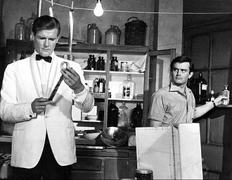 Roger Moore - Roger Moore (left) with Earl Green in The Saint