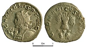 Radiate (coin) - Radiate of Gallienus, discovered in the Vale of Glamorgan.