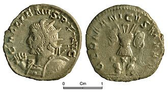 Post-reform radiate - Radiate of Gallienus, discovered in the Vale of Glamorgan.