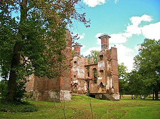 Rosewell (plantation) - Southern view of Rosewell ruins
