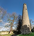 Round tower at St. Columba's Church in Swords, Dublin -148782 (33144575398).jpg