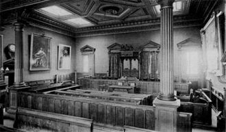 Courts of Jersey - Interior of Royal Court looking from the public gallery
