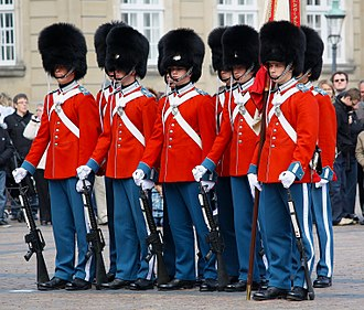 Royal Life Guards (Denmark) - Image: Royalguards copenhagen pazdziora cropped