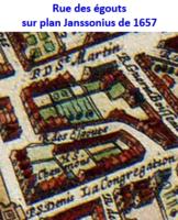 Rue des égouts sur plan Janssonius de 1657.png
