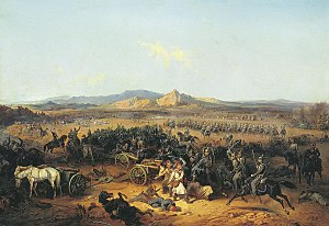 Russian cavalry attack at Baskadiklar.jpg