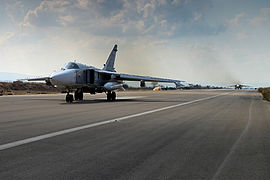 Russian military aircraft at Latakia, Syria (1).jpg