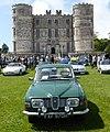 SAAB 96 V4 (1970) & Lulworth Castle (34629635656).jpg