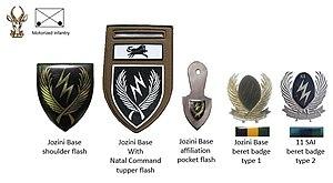 11 SAI - SADF era Jozini Base 11 SAI insignia