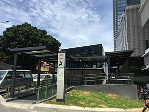Muzium Negara MRT station - Image: SBK Line Muzium Negara Entrance A 1