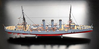 Revell - A Revell built model of the SMS Dresden from 1907.