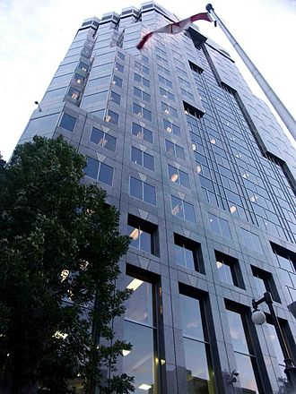 SNC-Lavalin - Corporate headquarters of SNC-Lavalin on René-Lévesque Blvd, in Montreal.