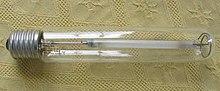 Una lampada al sodio del tipo SON da 600 watt
