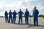 STS-133 Crew Begins Dress Rehearsal