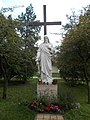 Sacred Heart of Jesus statue, 1950. - Apor Vilmos Sq., Budapest District XII.JPG