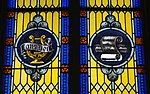 Saint Mary Catholic Church (Philothea, Ohio) - stained glass, Laus Deo and sacred music.jpg