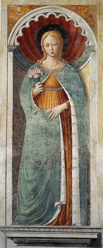 Saint Fina - Fresco of Fina painted by Benozzo Gozzoli