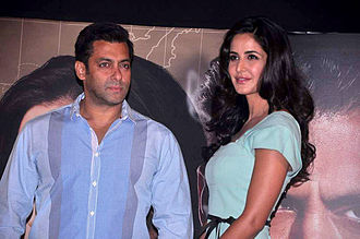 Salman Khan - Khan with Katrina Kaif at the launch of Ek Tha Tigers first song 'Mashallah'.