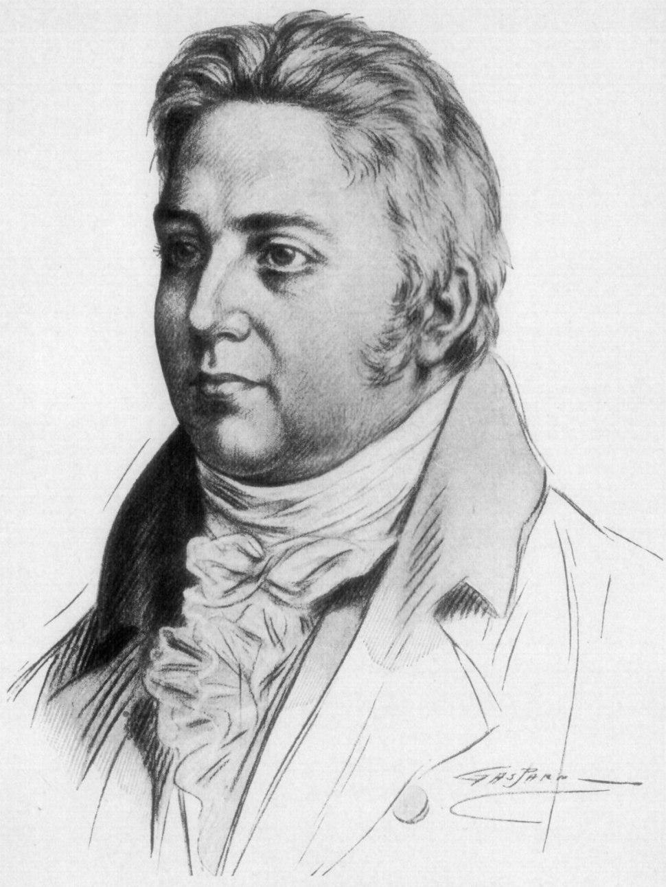 Gravure représentant Samuel Taylor Coleridge.
