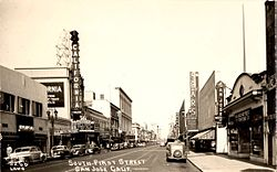 South First Street in the 1940s