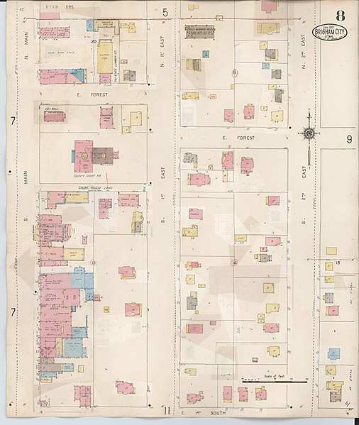File:Sanborn Fire Insurance Map From Brigham City, Box
