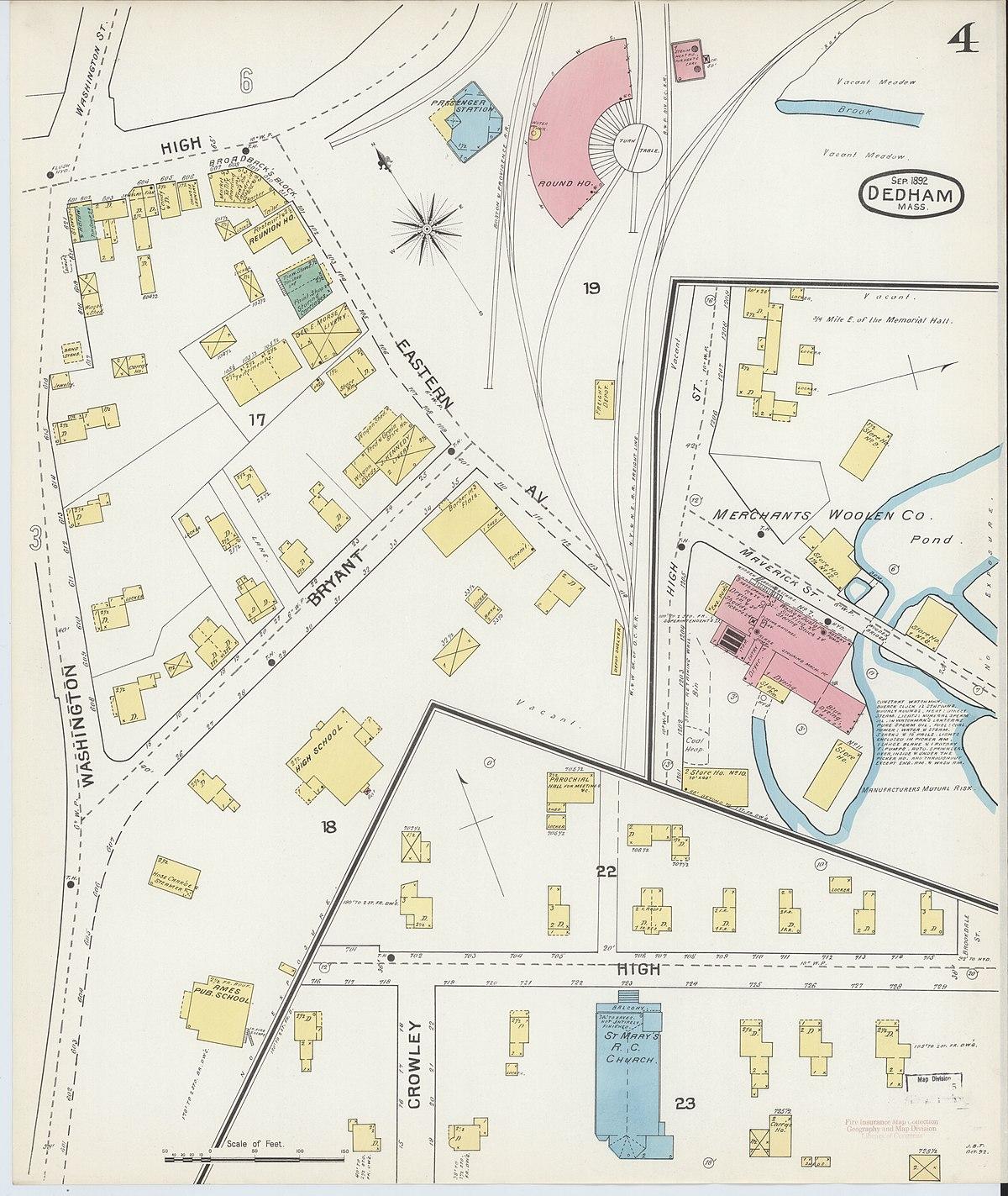 File:Sanborn Fire Insurance Map from Dedham, Norfolk ...