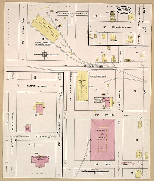 File:Sanborn Fire Insurance Map from Moultrie, Colquitt County ... on ga county map, highway 17 georgia map, georgia country map, rural georgia map, atlanta georgia map, king s bay on map ga, clay county wv tax map, hot springs georgia map, west cobb georgia map, chattahoochee river georgia map, meriwether co ga map, guthrie georgia map, cobb county school district map, washington co ga map, meriwether county parcel map, kings island georgia map, washington school district map, unincorporated orange county florida map, harris co ga map, grant county washington road map,