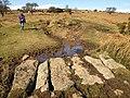 Sandy Way crossing Wheal Emma Leat (2) - geograph.org.uk - 1181079.jpg