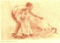 Sanguina de Lluïsa Vidal de uns nens amb gatets.png