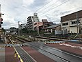 Sangyo-Daigaku Level crossing 20170708.jpg