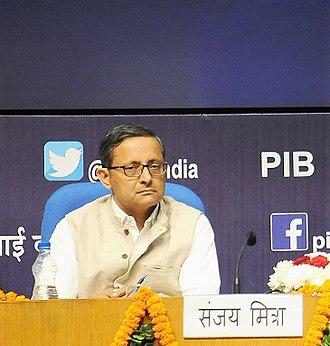 Defence Secretary (India) - Image: Sanjay Mitra, IAS (cropped)