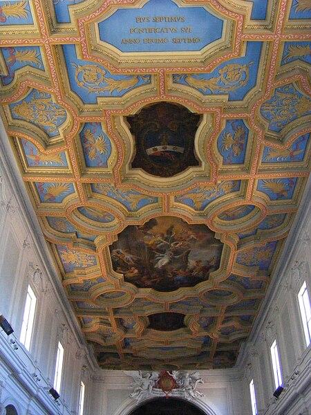 File:Sant'Anastasia, Rome - ceiling.jpg