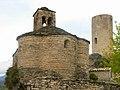 Sant Bartomeu i torre del castell de Sant Oïsme.jpg