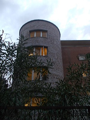 Sant'Eugenio Hospital - One of the four corner towers of the five planned in the original project.