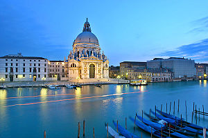 View to Santa Maria della Salute over the Gran...