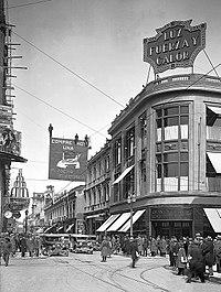 Vista de Ahumada, en el centro de la ciudad, hacia fines de los años 1920.