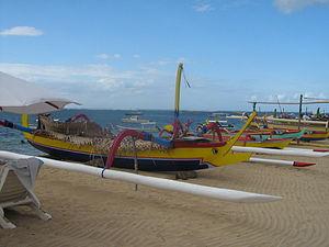 Sanur, Bali - Image: Sanur Beach (boats)