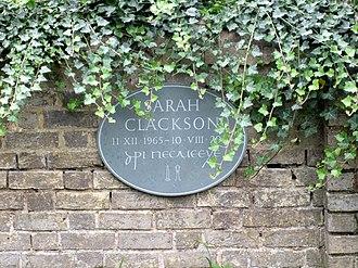 Ascension Parish Burial Ground - Memorial to Sarah Clackson