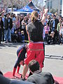 Sardine Family Circus performing at Fisherman's Wharf 2010-03-14 3.JPG